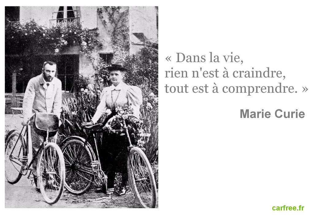 Pierre et Marie Curie font du vélo by Carfree France is licensed under CC BY-NC 2.0