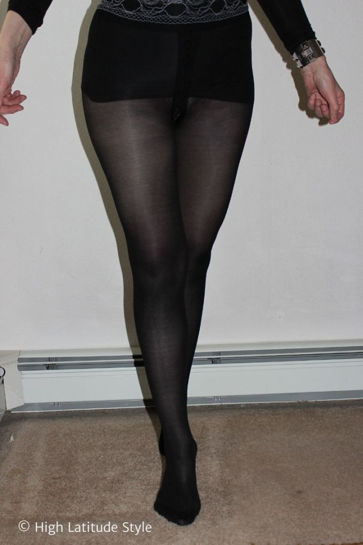 over 50 years old blogger in Sheertex pantyhose
