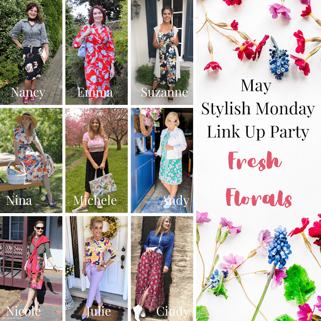 May Stylish Monday linkup party post banner showing the hostesses
