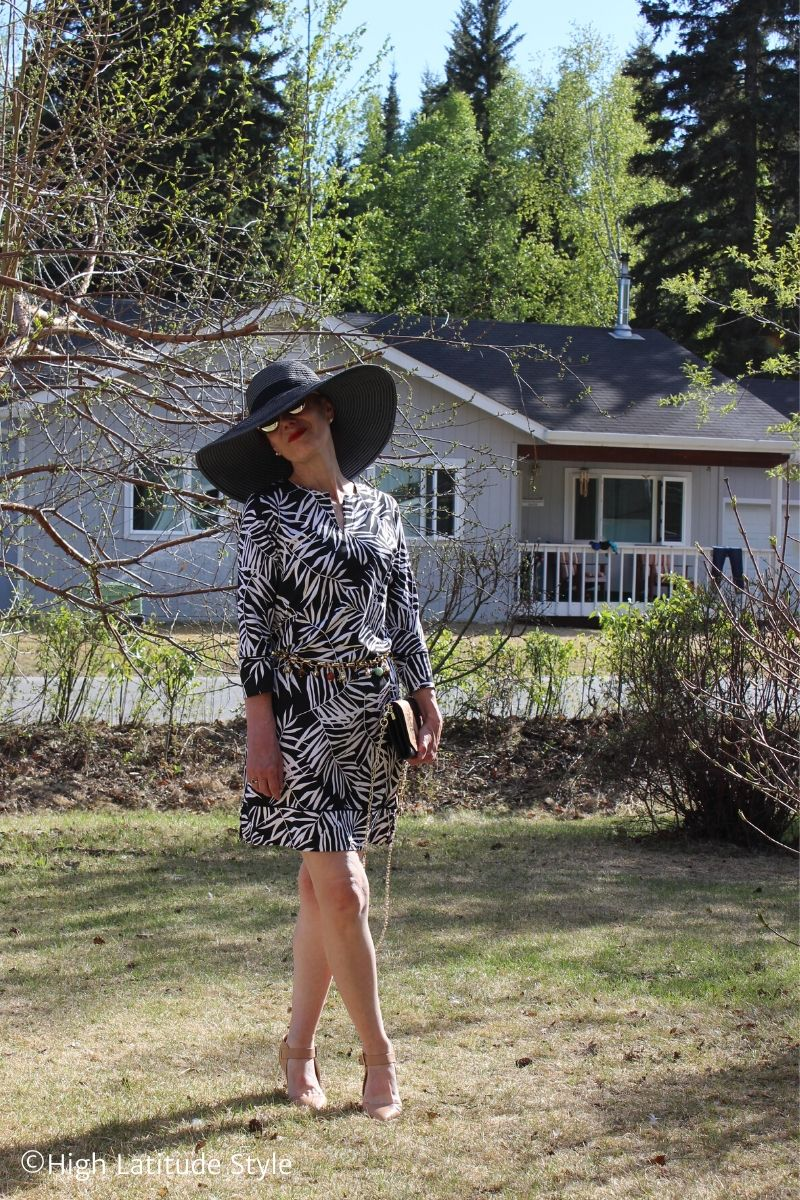 How to Accessorize a Busy Print Dress