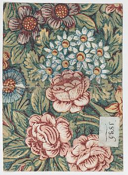 19th century floral print