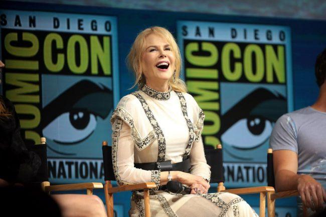 Nicole Kidman in romantic dress