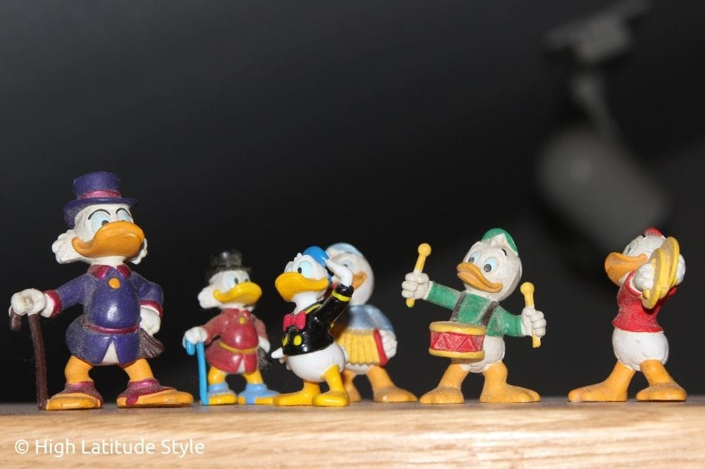 Disney figurines as decoration