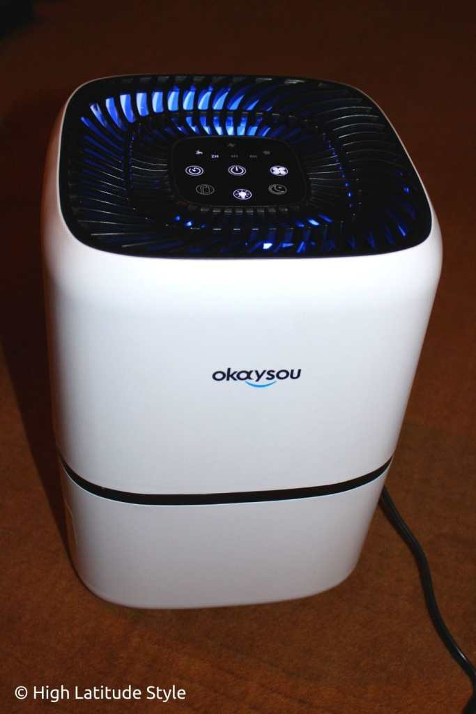 okaysou airpurifier in operation