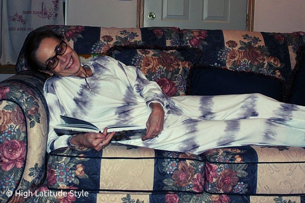 fashion blogger in PJ