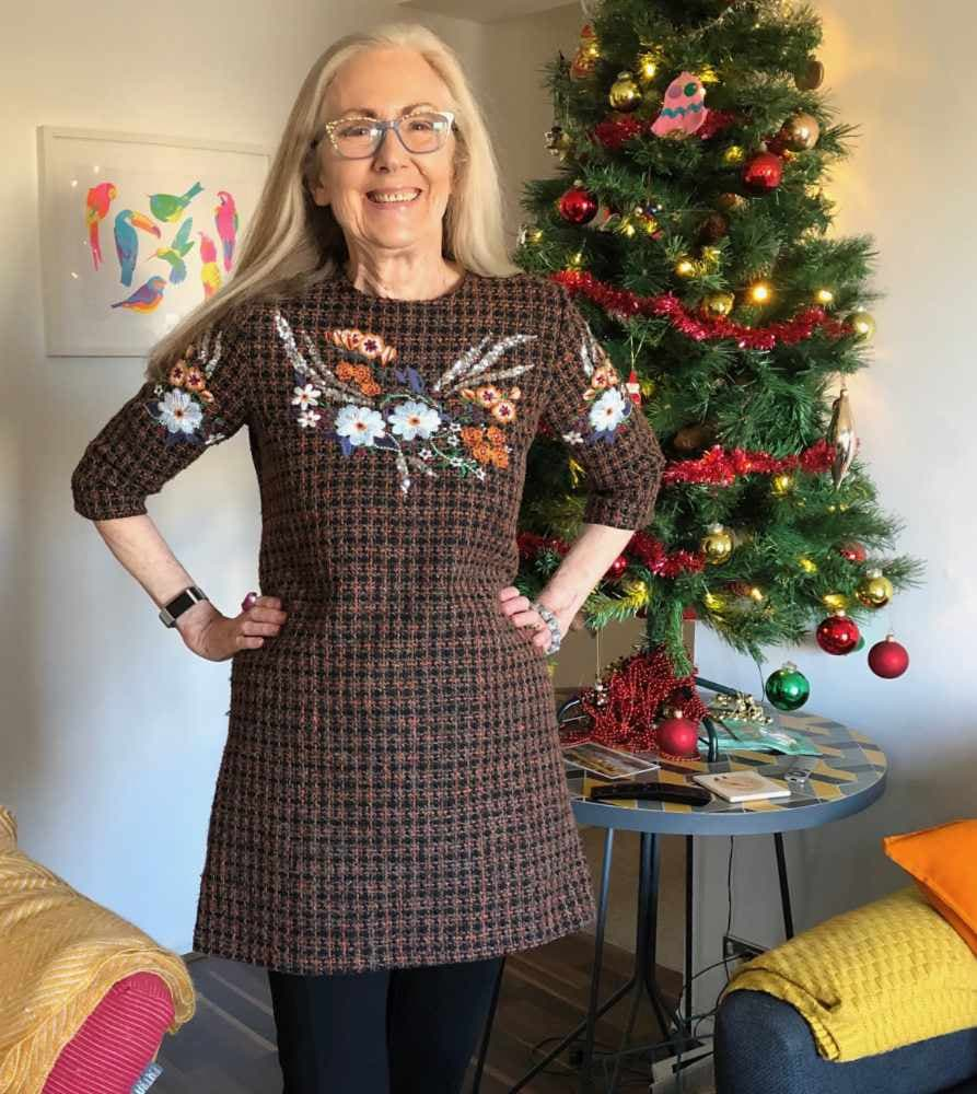 Penny of Frugal Shopper in embroidered tunic