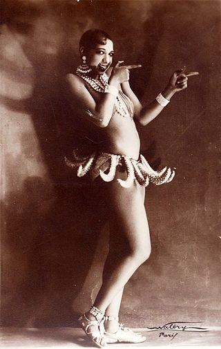 Josephine Baker in her famous banana skirt performance