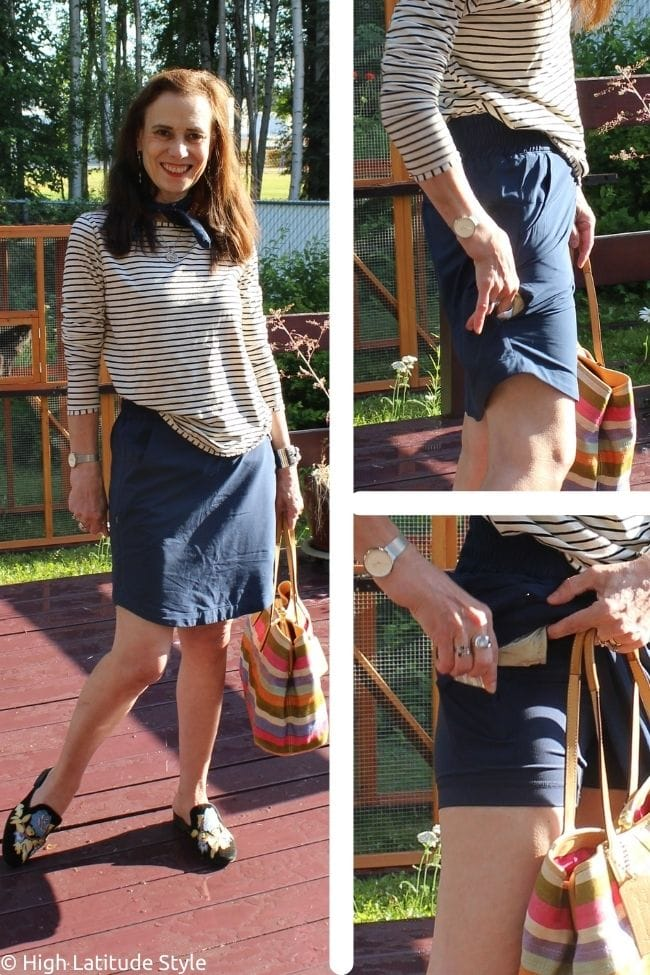 skorts vacay outfit with details