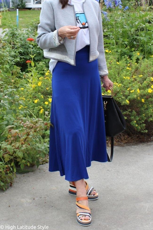 details of sunprotective skirt