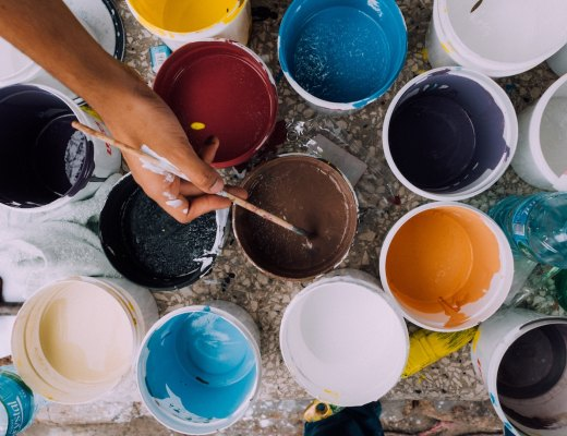 a highly sensitive person (HSP) gets creative with paint