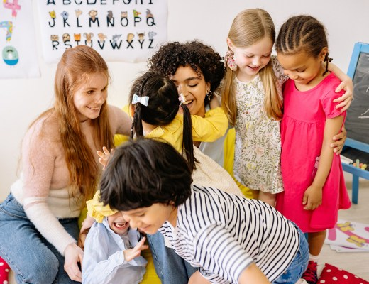 A sensitive student with their teacher