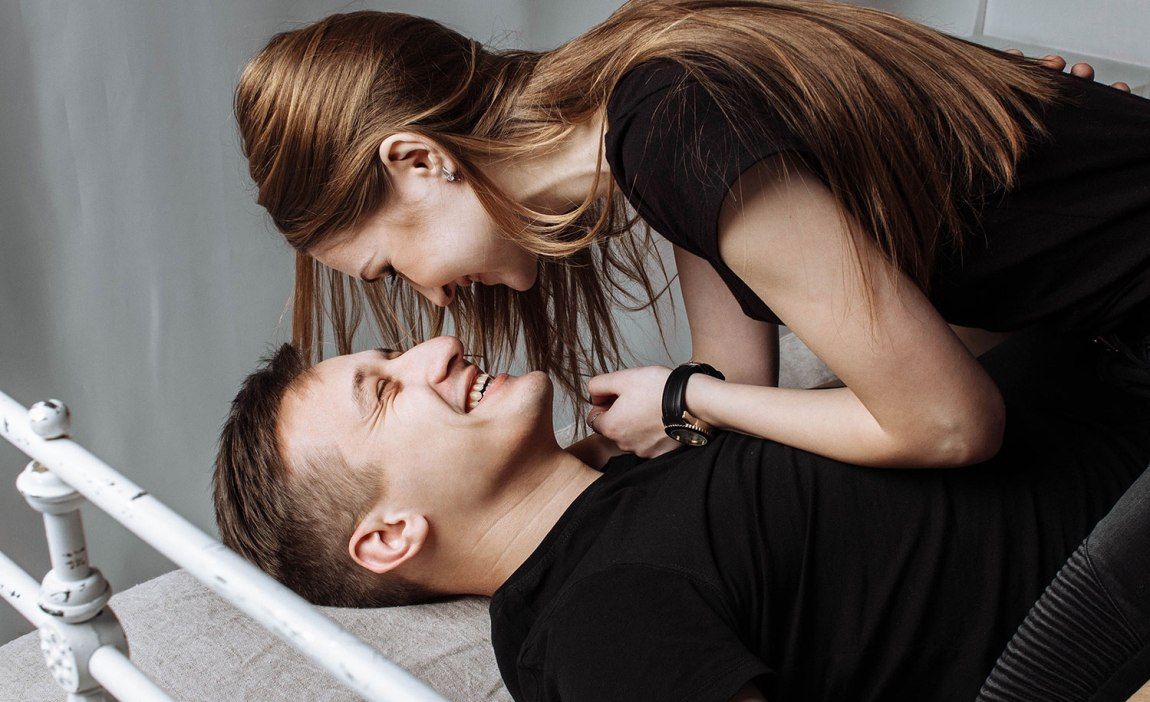 A highly sensitive person in bed with their partner