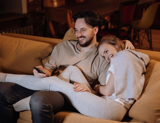 A highly sensitive person watches TV