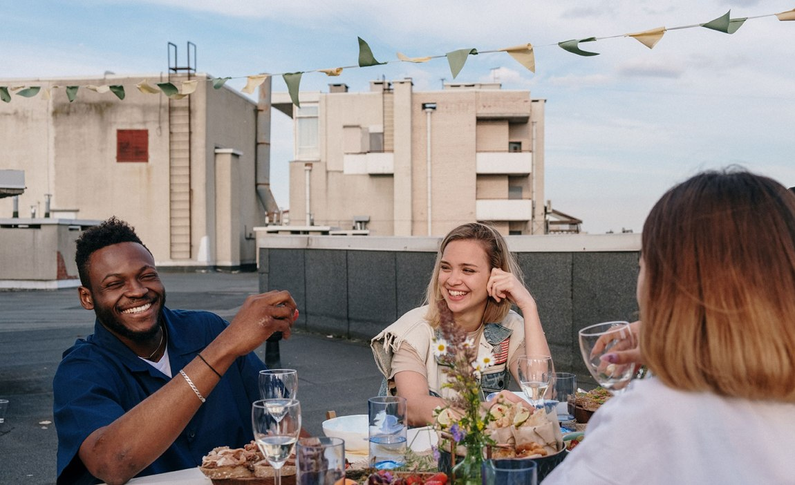 A highly sensitive person at a dinner party
