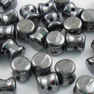czech-4x6mm-pellet-beads-gunmetal-hematite