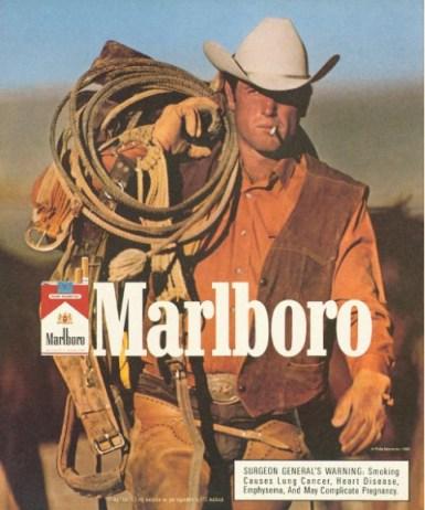 famous cigarettes name origin cowboy ad