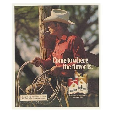cigarettes name origin famous cowboy ad