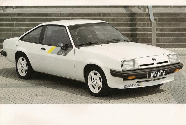 Opel Manta car naming fail