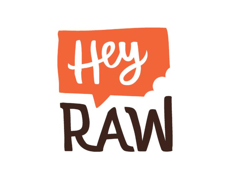 HeyRaw - logo name case