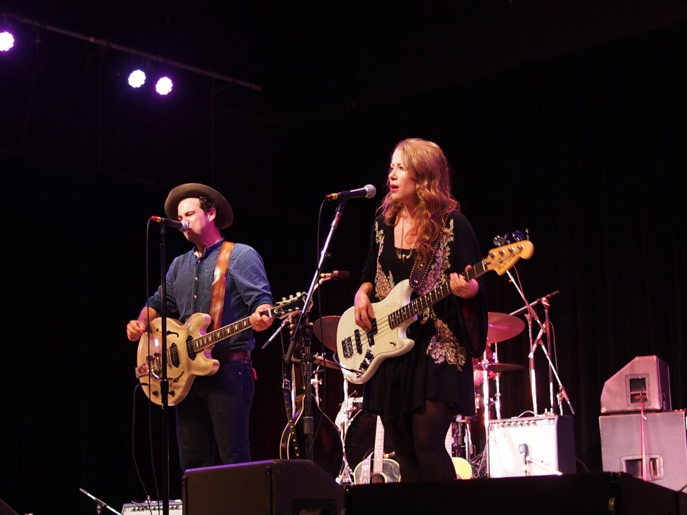 The Lone Bellow performs at the 55th annual Philadelphia Folk Festival.