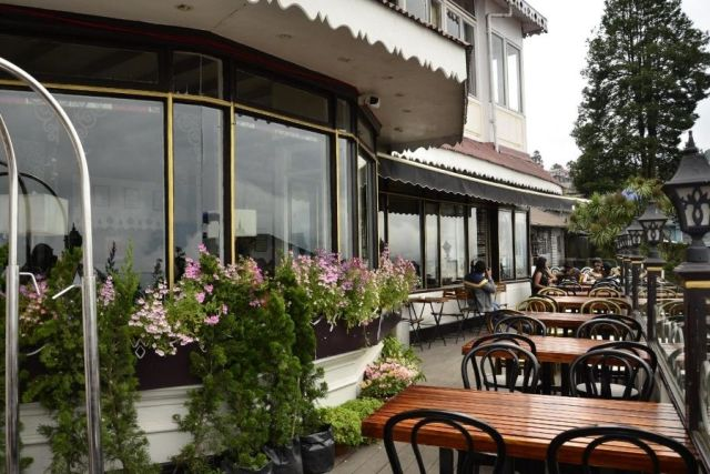 The open seating area of Glenary's Darjeeling is one of the most beautiful places to sip your coffee at