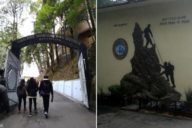 The entrance of Himalayan Mountaineering Institute in Darjeeling