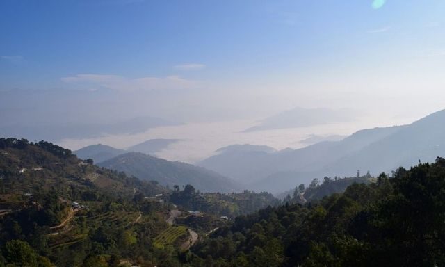 Vistas of mountains as viewed from Nagarkot