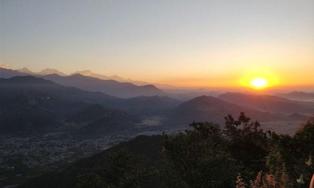 A mesmerizing sunrise from Sarangkot Viewpoint