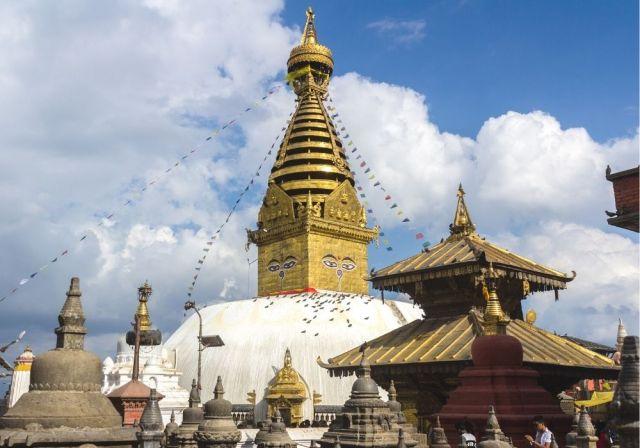 A glance of Swayambhunath Stupa