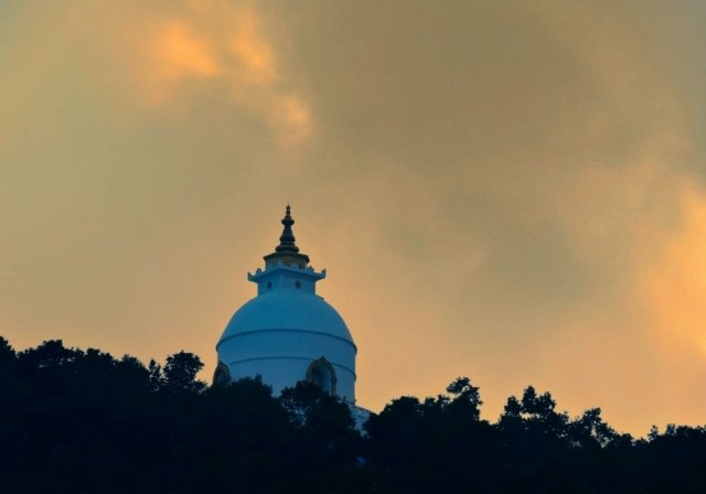 World Peace Pagoda, as seen from Phewa lake