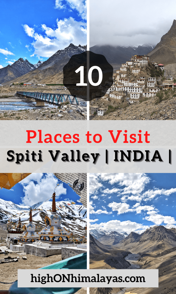 10 Places to visit in Spiti Valley | High on Himalayas