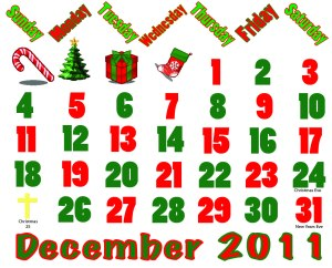 December 2011 Calendar