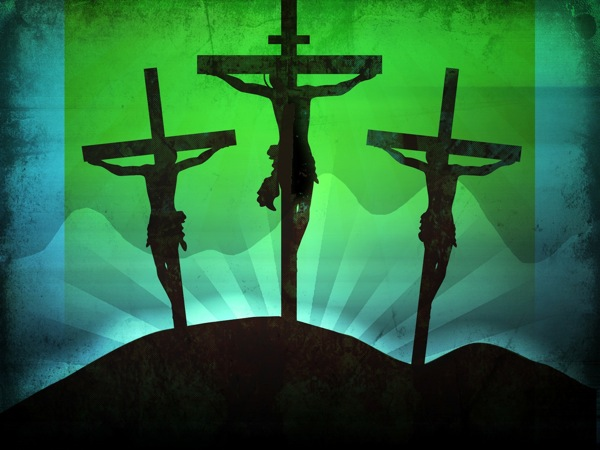 Three Crosses Worship Background Template