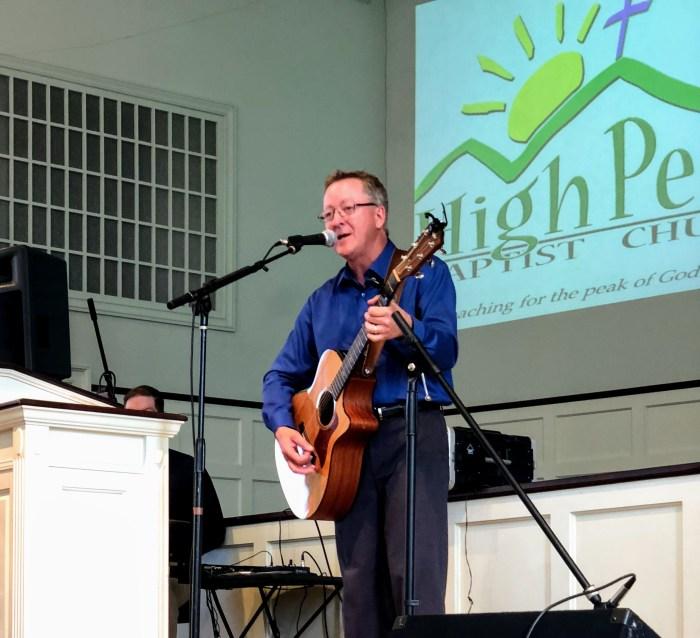mark brown leads worship