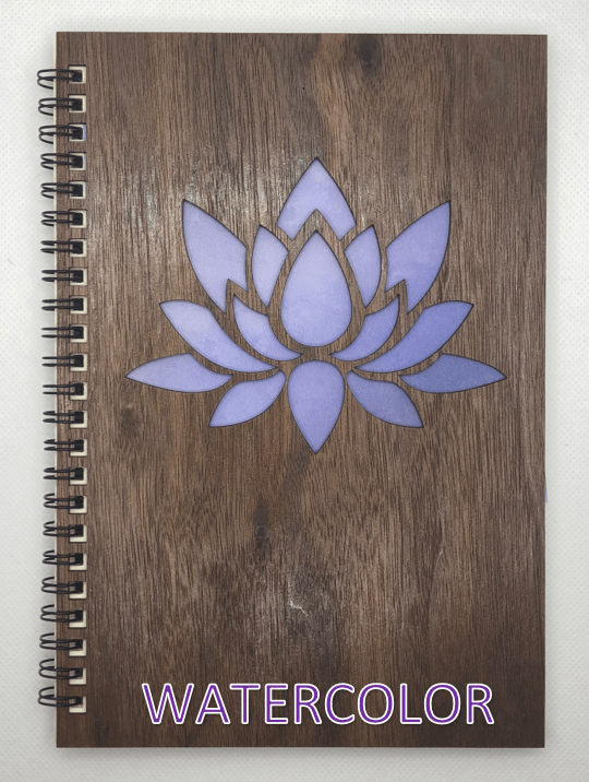 Watercolor Wood Covered Notebook Design