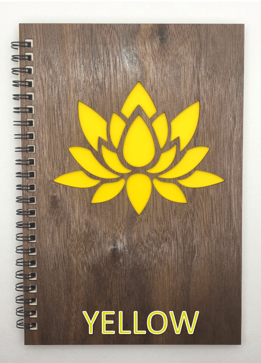 Yellow Wood Covered Notebook Design