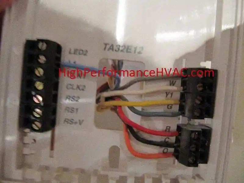 Basic Thermostat Wiring Colors