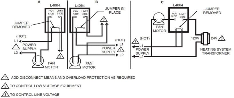 Honeywell Furnace Temperature Fan Limit Switch Control