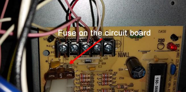 Fuse Blown On Circuit Board High Performance Hvac