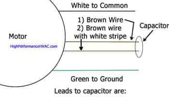 How to wire an air conditioner for control 5 wires how to wire a run capacitor to a motor blowers condensers cheapraybanclubmaster Image collections
