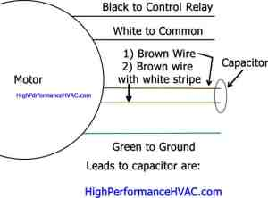 How to wire a run capacitor to a motor blower condenser hvac wiring cheapraybanclubmaster Gallery