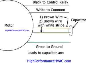 How to Wire a Run Capacitor to a Motor Blower & Condenser