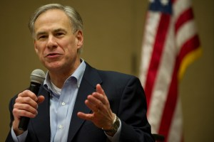 Texas Attorney General Greg Abbott speaks during the Texas State Rifle Association convention on Saturday, February 23, 2013 in Mesquite, Texas. (Cooper Neill/The Dallas Morning News) / mug - mugshot - headshot - portrait / 05012013xALDIA