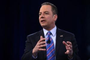 NATIONAL HARBOR, MD - MARCH 04:  Chairman of the Republican National Committee Reince Priebus participates in a discussion during CPAC 2016 March 4, 2016 in National Harbor, Maryland. The American Conservative Union hosted its annual Conservative Political Action Conference to discuss conservative issues.  (Photo by Alex Wong/Getty Images)