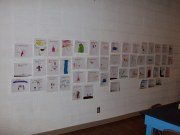 Just look at all that beautiful artwork done by the Kindergarteners of Goodland!