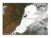 NASA's MODIS landsat captured image of storm over Moore Oklahoma