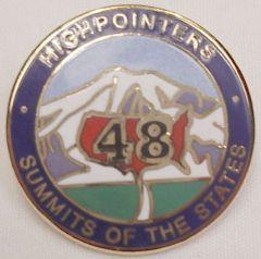48 State Enameled Pin