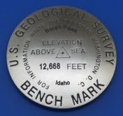 State Highpoint USGS Benchmark Replica Medallion