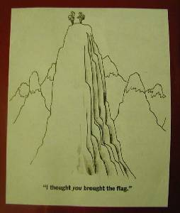 Page from the Fifty Flags Scrapbook during the Highpointers 2002 Convention at Black Mesa, Oklahoma