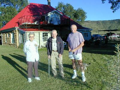 Joyce & Jack Parsell & Don Holmes at Black Mesa Bed & Breakfast